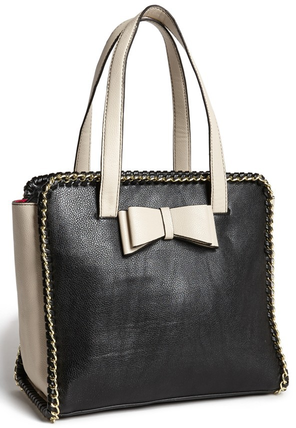 Betsey Johnson 'Tough Love' Faux Leather Tote