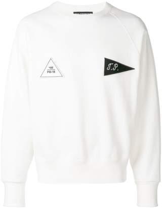 Gosha Rubchinskiy patch detail sweatshirt