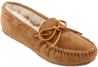 Minnetonka Leather Moccasin Slippers - Sheepski