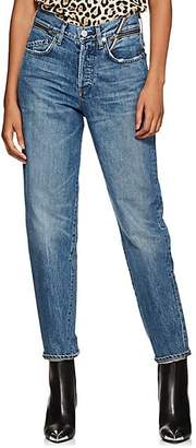 Atelier Jean Women's Charlie High-Rise Slim Jeans - Blue