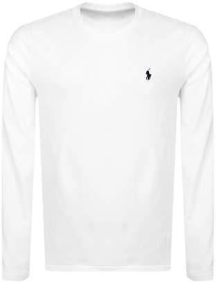 Ralph Lauren Long Sleeved Crew Neck T Shirt White