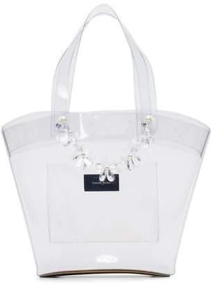 Simone Rocha transparent beaded PVC tote bag