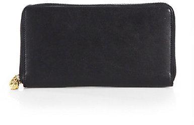 Alexander McQueen Skull Zip-Around Wallet