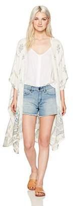 Angie Women's Printed Duster Kimono