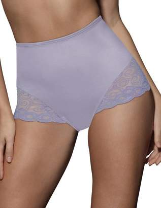 Bali Firm Control Women`s Lace Inset Brief - Best-Seller, L