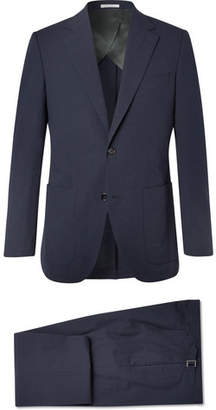Husbands Navy Slim-Fit Cotton-Seersucker Suit