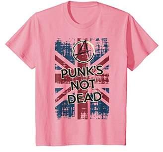 Punk T-Shirt Vintage Rock Concert UK Flag Distressed Tee