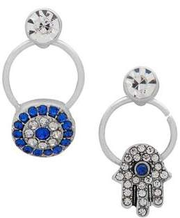 lonna & lilly Silvertone Crystal Mis-Matched Earrings
