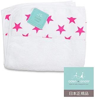 Aden Anais (エイデン アネイ) - aden + anais (エイデンアンドアネイ) 【日本正規品】トドラータオル (幼児用バスタオル)1枚 fluro pink classic toddler towel- 3123