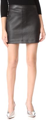 Helmut Lang Stretch Leather Miniskirt $645 thestylecure.com