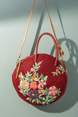 Anthropologie Garden Raffia Crossbody Bag