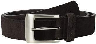 Stacy Adams Men's mm Genuine Leather Belt With Perforated Tip and Keeper