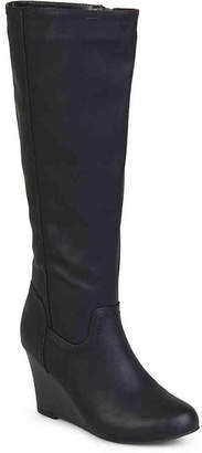 Journee Collection Langly Wide Calf Wedge Boot - Women's