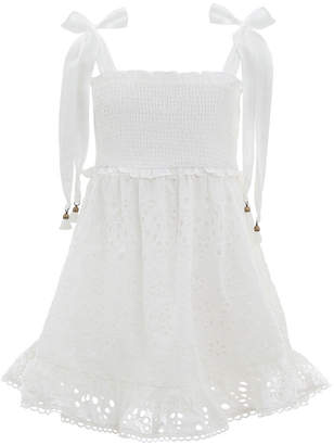 Zimmermann Bayou Shirred Short Dress