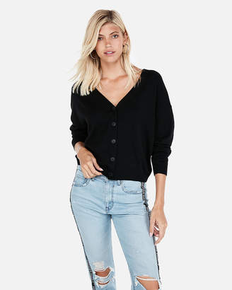 Express Slouchy V-Neck Cardigan