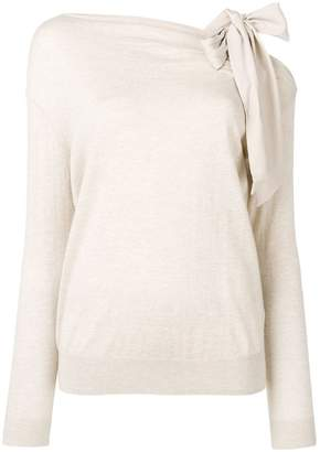 Paule Ka bow detail jumper