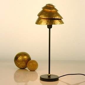 Effektvolle Tischleuchte SNAIL ONE - braun-gold