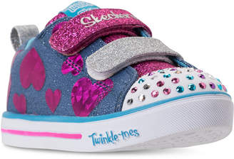 ed7c09553a65 Skechers Toddler Girls  Twinkle Toes  Sparkle Lite - Flutter Fab Light-Up  Sneakers
