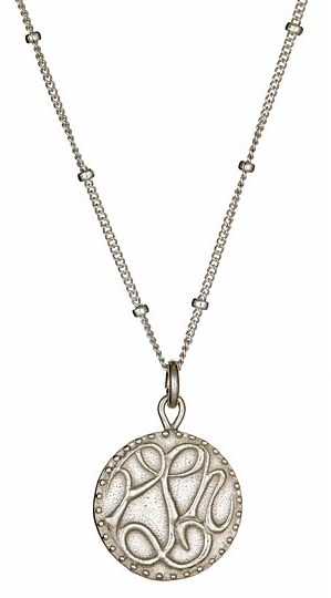 Sophia & Chloe Silver Peace Love and Happiness Charm Necklace