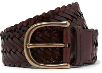 Tom Ford 4cm Brown Woven Leather Belt - Men - Tan