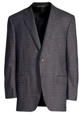 Canali Classic-Fit Wool Check Sport Jacket