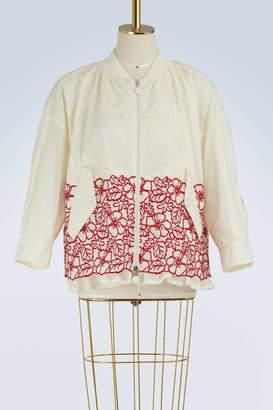 Moncler Irish embroidered bomber jacket