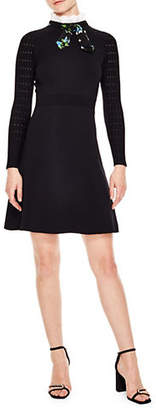 Sandro Notting Hill Clemence Bow Collar Dress