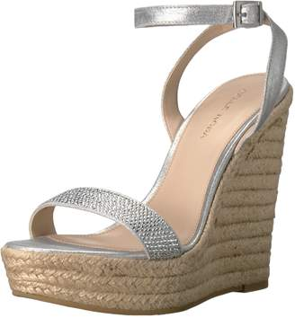 Pelle Moda Women's Only-ms Wedge Sandal Silver 10 M US