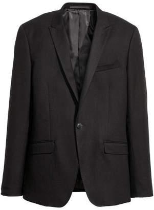 H&M Textured Blazer Skinny fit - Black