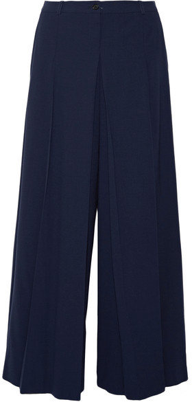 Michael Kors Collection - Pleated Wool Wide-leg Pants - Navy