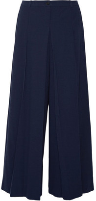 Michael Kors Collection - Pleated Wool Wide-leg Pants - Navy $1,195 thestylecure.com
