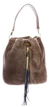 Elizabeth and James Cynnie Shearling Bucket Bag