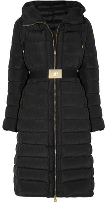 Moncler - Imin Belted Quilted Shell Down Coat - Black $1,450 thestylecure.com