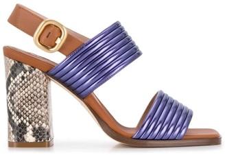 Alberto Gozzi python sandals