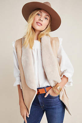 Anthropologie Clementine Faux Suede Vest