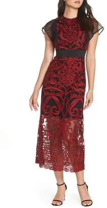 Foxiedox Rosabel Embroidery Midi Dress