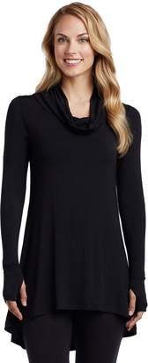 Cuddl Duds Women's Softwear Cowlneck Tunic Top