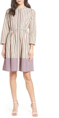 French Connection Mixed Stripe Cotton Dress