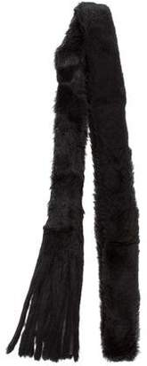 Ann Demeulemeester Leather-Trimmed Fur Scarf