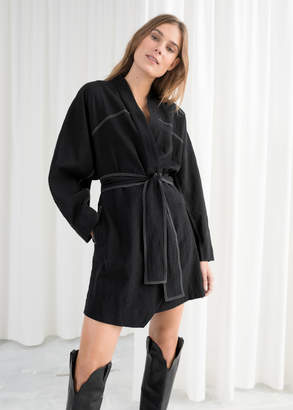 efd9af250bc And other stories Belted Kimono Wrap Dress