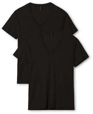 G Star Men's Base Heather V Neck Tee Short Sleeve 2 Pack,Grey Heather,M