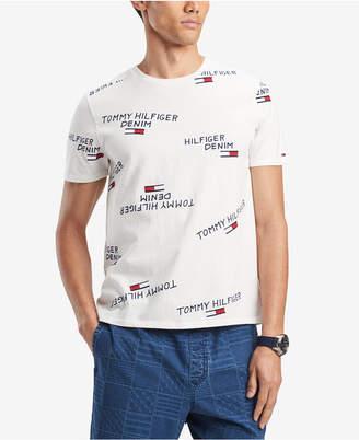 400261c0ce9 Tommy Hilfiger Men Handwritten Scattered Logo T-Shirt