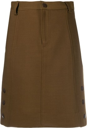 See by Chloe side button skirt