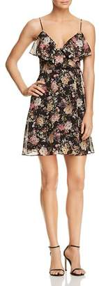 Bailey 44 Object of Desire Floral Print Faux-Wrap Dress