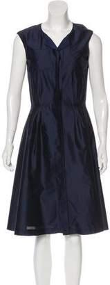 Oscar de la Renta Sleeveless Midi Dress