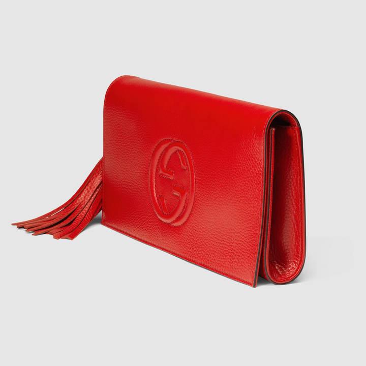 Gucci Soho leather clutch