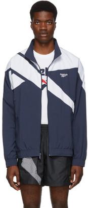 Vector Reebok Classics Navy and White Track Jacket