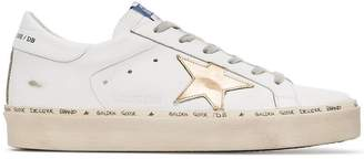 Golden Goose leather gold hi star trainers