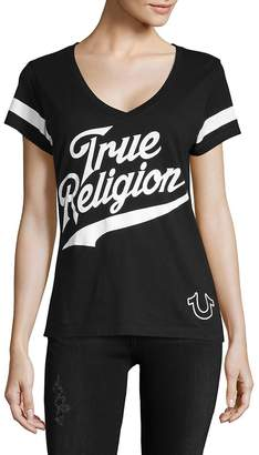 True Religion Women's Logo Cotton Tee