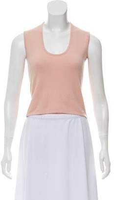 Chanel Cashmere Scoop Neck Top